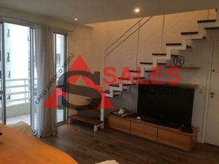 Foto do Apartamento Duplex-Apartamento Duplex com 2 dormitórios para alugar, 70 m², 350 metro do Metrô Moema, por R$ 5.200/mês - Moema - São Paulo/SP
