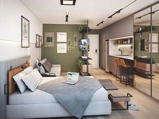 Foto do Apartamento-Apartamento studio, bem localizado, região Centro - Batel, à venda, Centro, Curitiba, PR
