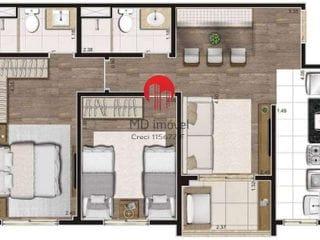Foto do Apartamento-Apartamento para Venda em São Paulo, Lapa, 2 dormitórios, 1 suíte, 2 banheiros, 1 vaga