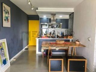 Foto do Apartamento-Alugo apartamento mobiliado na Barra Funda!   São 2 dormitórios, sendo 1 suíte, com piso de madeira e armários embutidos, salas integradas com dois am