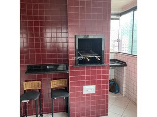 Foto do Apartamento-APARTAMENTO  - 02 dormitórios sendo 1 suíte - Living - Sacada com churrasqueira a carvão e vista mar - Cozinha - Área de serviço - Banheiro social - 01 vaga de