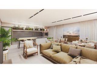 Foto do Apartamento-Previsão de Entrega em Setembro 2023  APARTAMENTO:  - 01 Suíte + 01 Dormitório ou 01 Dormitório  - Banheiro - Sala - Cozinha - Lavanderia - Sacada com Churrasqu
