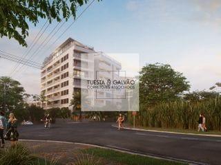 Foto do Apartamento-Apartamento à venda contando com 2 quartos, sendo uma suíte, cozinha, lavanderia compartilhada e uma bela sacada com churrasqueira.