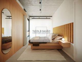 Foto do Apartamento-Apartamento à venda em Curitiba, com uma suíte, lavanderia coletiva, sala de estar/jantar, cozinha e uma bela sacada com churrasqueira.