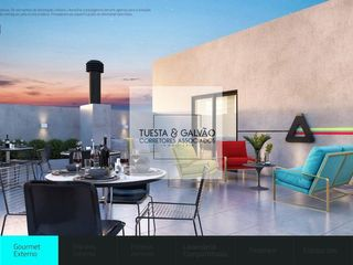 Foto do Apartamento-Apartamento à venda no bairro Tingui, contando com 3 quartos sendo uma suíte, cozinha, sala de estar/jantar e uma sacada com churrasqueira.