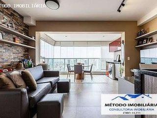 Foto do Apartamento-Apartamento para Venda em São Paulo, Brooklin, 2 dormitórios, 1 suíte, 2 banheiros, 1 vaga
