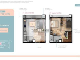 Foto do Apartamento-Apartamento à venda em Curitiba, com dois quartos, dois banheiros, sala de estar/jantar, cozinha e uma bela sacada com churrasqueira.