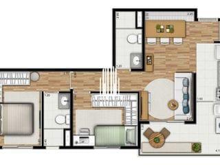 Foto do Apartamento-Apartamento à venda Vila Mariana - 57m2 - 2 dormitórios/1 suite, 1 vaga - 700m até o Metrô