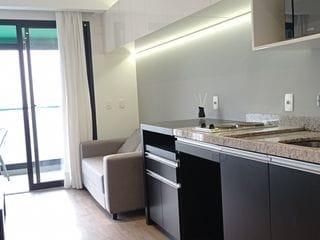 Foto do Apartamento-Amplo Estúdio Lindo e Completo, mobiliado e decorado, com 1 vaga. Lazer completo na Bela Vista, perto do metrô, Higienópolis, PUC, Mackenzie, Paulista