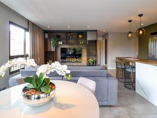 Foto do Apartamento-Maison 29 - ( FRENTE P/PRAÇA 29 DE MARÇO )  Apartamento mobiliado à venda, 114m² privativos, 3 quartos (1 suíte e 2 demi)  - Mercês, Curitiba, PR