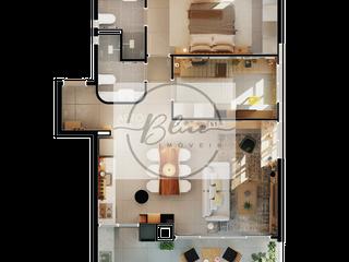 Foto do Apartamento-Apartamento à venda 2 Quartos, 1 Suite, 1 Vaga, 53.37M², Água Verde, Curitiba - PR