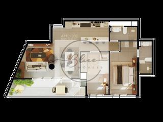Foto do Apartamento-Apartamento à venda 2 Quartos, 1 Suite, 1 Vaga, 73.62M², Água Verde, Curitiba - PR