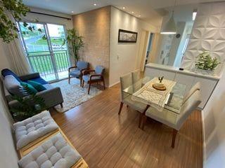 Foto do Apartamento-Apartamento à venda de 55m², 2 dormitórios, Condomínio Residencial Ilhas do Caribe, Piscina, Churrasqueia, Academia,playground, Bragança Paulista, SP