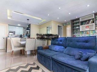 Foto do Apartamento-Excelente apartamento todo reformado com moveis planejados na cozinha e quarto, e varanda gourmet,planta de 3 quartos sendo que ampliou a sala, podendo voltar a