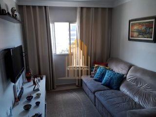 Foto do Apartamento-Apartamento com 1 dormitório, 1 banheiro, sala de estar e 1 vaga de garagem.