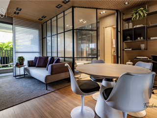 Foto do Apartamento-Apartamento à venda, Gleba Palhano - Edifício Freedom Palhano - 1 Suíte - Sacada - Sala 3 ambientes - 1 Garagem - Em Construção
