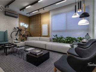 Foto do Apartamento-Apartamento à venda, Gleba Palhano - Edifício Freedom Palhano - 3 Quartos sendo  1 Suíte - Sacada - Sala 2 ambientes - 2 Garagens - Em Construção