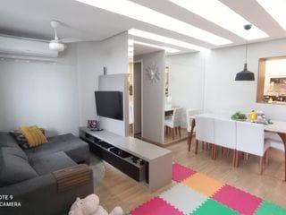 Foto do Apartamento-Apartamento à venda, Vale dos Tucanos,Próximo av INGLATERRA 2 quartos , sala estendida, todo mobiliado, projetado por arquiteto, sacada com churrasqueira,