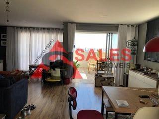 Foto do Apartamento-Apartamento à venda, Vila Gumercindo, São Paulo, SP. Excelente apartamento Duplex!  Piso Superior;  dois dormitórios (planta de três) foi ampliado um  para um closet, sendo uma suíte, com  sacadas nos dois dormitórios.