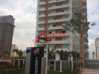 Foto do Apartamento-Apartamento Comercial à venda e para locação, Vila Dom Pedro I, São Paulo, SP. Condomínio de apartamentos construído em 2016 (há 4 anos). O condomínio comercial Cosmopolitan Ipiranga é composto por uma torre única.