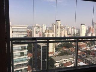 Foto do Apartamento-Apartamento para locação com 1 dormitório para alugar, 51 m² por R$ 2.800/mês - Campo Belo - São Paulo/SP