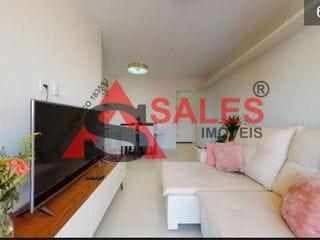Foto do Apartamento-Lindo apartamento84m² pronto para entrar e morar na Vila Olimpia, com varandinha, Banheiro amplo que atende dois quartos espaçosos. Um dos quartos com closet.