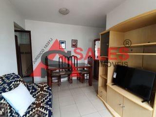 Foto do Apartamento-Lindo apartamento  48 m²,mobliado , 1dormitorio , sala, cozinha, pequena área serviço, 1 banheiro, 1 vaga. Prédio com lazer, academia, piscina, salão social.