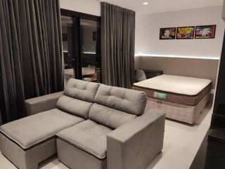 Foto do Apartamento-More 300 Metros da Estação Campo Belo 37 M² Mobiliado com ar condicionado 1 vaga com lazer completo.