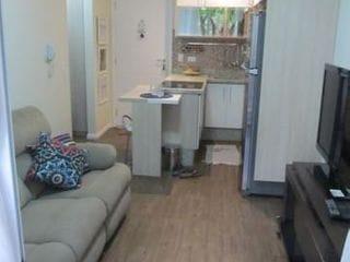 Foto do Apartamento-More no Panamby 40 M² com Ar Condicionado fácil acesso para Marginal