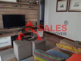 Foto do Apartamento-Lindo apartamento 80m² totalmente mobiliado, com 2 quartos (1 suíte) , 2 banheiros , área de serviço, varanda gourmet, piscina, salão de festas