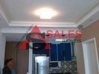 Foto do Apartamento-Lindo apartamento 45 m² , 1 Dormitório, 1 Vaga de carro, Varanda,  sala, ar condicionado,Armários embutidos, Varanda, Área de serviço,Armários na cozinha.