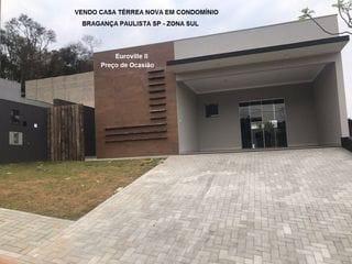Foto do Casa-Vendo Casa Térrea Nova Condomínio Euroville II Bragança Paulista SP.