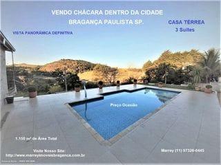 Foto do Chácara-Rural à venda, No Coração de Bragança - Dentro da Cidade, Bragança Paulista.