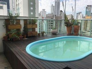 Foto do Cobertura-Cobertura decorada e equipada, 2 suítes, 2 demi-suítes, espaço gourmet, piscina privativa, 3 vagas de garagem, localização privilegiada de Balneário Camboriú, SC