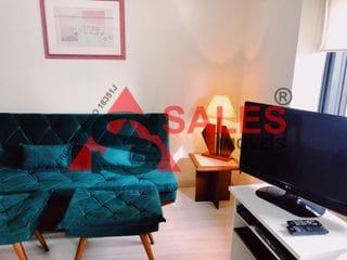 Foto do Flat-Flat com 1 dormitório para locação, 35m² por R$ 1.800,00/mês Localizado na Rua Guarará - Jardim Paulista, São Paulo, SP