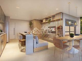 Foto do Lançamento-Apartamento de 50 m2 com  1 dormitório, sendo uma suíte, com 1 vaga à venda na região da Vila Madalena, São Paulo / SP