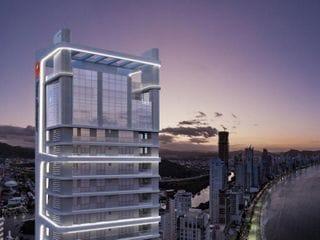 Foto do Apartamento-Apartamento de luxo com 4 suítes, 195 m² privativos, 3 vagas de garagem, suite master com hidro, living, lavabo, a venda em Balneário Camboriú.