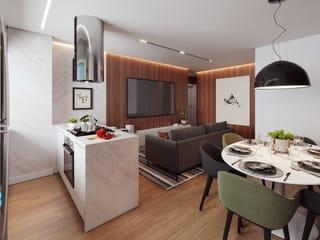 Foto do Apartamento-Apartamento de 3 Quartos com Suíte, 83,58  m² privativos, sacada com churrasqueira, localização privilegiada em São José dos Pinhais