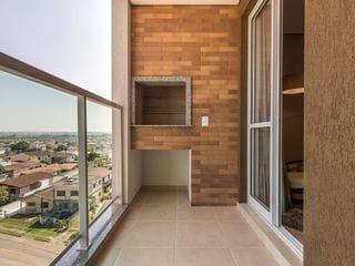 Foto do Apartamento-Apartamento de 3 Quartos com Suíte, 77 m² Privativos, sacada com churrasqueira, 2 vagas de garagem, localização em São José dos Pinhais