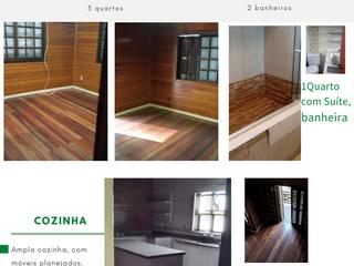 Foto do Sobrado-SOBRADO NOBRE, Para que gosta de beleza e comodidade. Construído em madeira nobre, todo duplado, com cômodos amplos, cozinha com móveis planejado.
