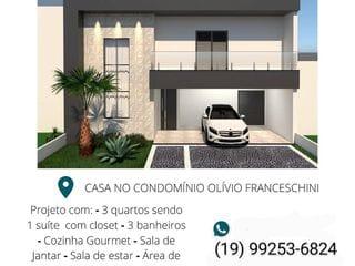 Foto do Sobrado-Sobrado à venda em Construção no Condomínio Parque Olivio Franceschini, 165m², - Parque Ortolândia, Hortolândia, SP