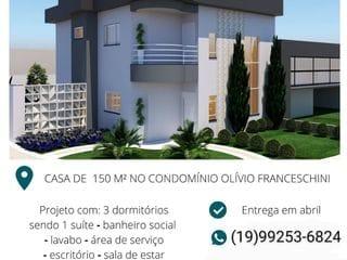 Foto do Sobrado-Sobrado à venda em Construção no Condomínio Parque Olivio Franceschini, 150m², - Parque Ortolândia, Hortolândia, SP