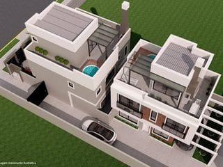 Foto do Sobrado-Sobrado à venda, na região do Água Verde com 3 suítes e área privativa de 217 m²  e estacionamento para até 2 carros -  Acabamento de luxo