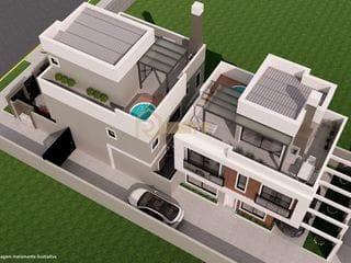 Foto do Sobrado-Sobrado com 3 dormitórios à venda, 146 m² - Água Verde - Curitiba/PR