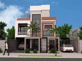 Foto do Sobrado-Sobrado à venda, 141 m² por R$ 858.000,00 - Água Verde - Curitiba/PR