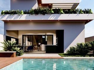 Foto do Sobrado-Vendo Sobrado na PLANTA estilo Contemporâneo Condomínio Euroville II Bragança Paulista SP