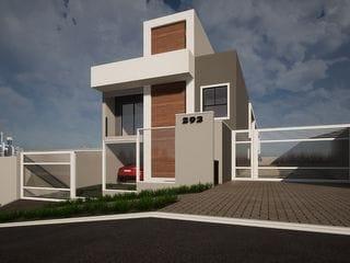 Foto do Sobrado-Sobrado Frente Rua Duplex 99m² 2 Quartos 2 Suítes 2 Vagas Painel Solar Condomínio