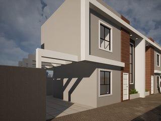Foto do Sobrado-Sobrado Duplex 87m² 3 Quartos 1 Suíte 2 Vagas Painel Solar Condomínio