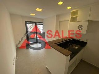Foto do Studio-Lindo e Amplo Studio à 50m do Metrô Vila Madalena, 01 dormitório, 41 m², com grande diferencial de sua Varanda.