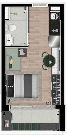 Foto do Studio-Studio à venda, 24 m² por R$ 490.500,00 - Moema - São Paulo/SP